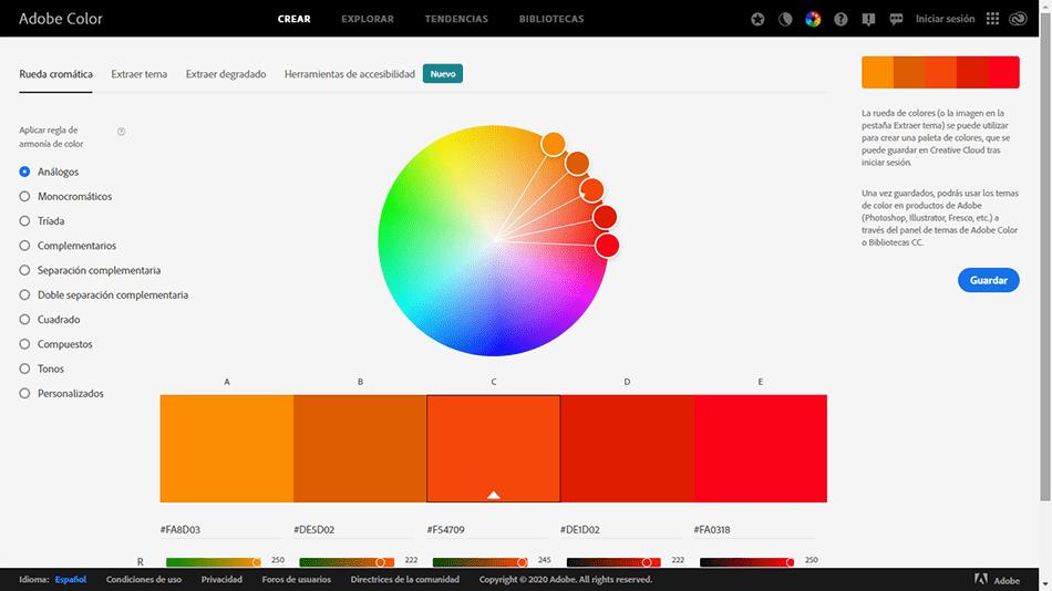 adobe color para el diseño web
