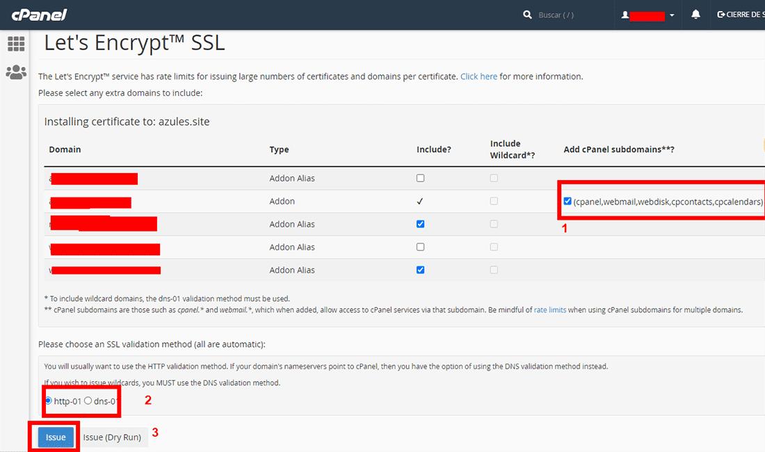 Instalación de ssl